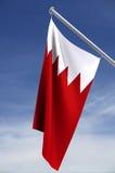 Staatsflagge von Bahrain Stockfotografie