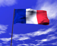 Staatsflagge von Frankreich Lizenzfreie Stockfotos