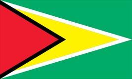 Staatsflagge von Guyana Stockbild