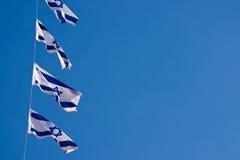 Staatsflagge von Israel draußen Stockbild