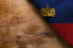 Staatsflagge von Liechtenstein Lizenzfreies Stockfoto