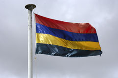 Staatsflagge von Mauritius stockbild