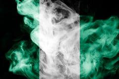 Staatsflagge von Nigeria stockfotos