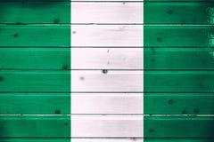 Staatsflagge von Nigeria lizenzfreies stockbild