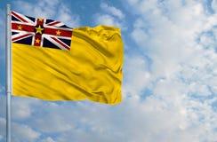 Staatsflagge von Niue Lizenzfreie Stockbilder
