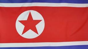 Staatsflagge von Nordkorea in der Zeitlupe stock abbildung