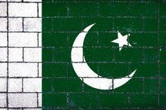 Staatsflagge von Pakistan stockbild