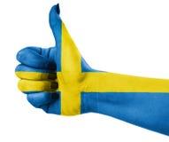 Staatsflagge von Schweden Stockfotografie