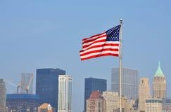 Staatsflagge von Vereinigten Staaten Stockfotografie