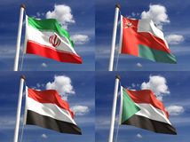 Staatsflaggen Stockfoto