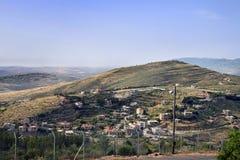 Staatsgrens tussen Israël en Libanon stock afbeelding