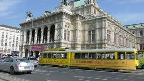 Staatsoper building in Vienna stock video footage