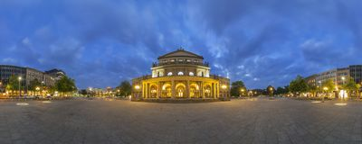 Staatsoper Hannover. Um panorama de 360 graus. Fotografia de Stock