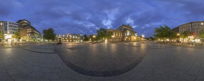 Staatsoper Hanovre. Panorama de 360 degrés. Image stock