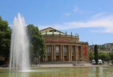 Staatstheater Stuttgart, Germania, teatro dell'opera Fotografia Stock Libera da Diritti