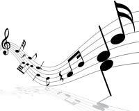 Stab der musikalischen Anmerkung Stockbild