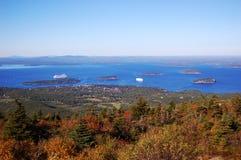 Stab-Hafen, Acadia-Nationalpark Stockbild