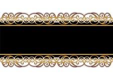 Stab im Schwarzen und im Gold Stockbild