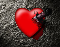 Stabbed Heart Royalty Free Stock Photo