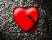 Stabbed Heart Royalty Free Stock Images