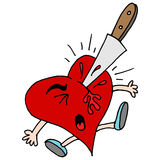 Stabbed in the heart metaphor Royalty Free Stock Image
