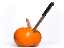 Stabbed Pumpkin Stock Image