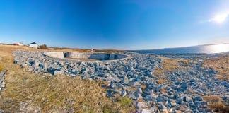 Stabben Fort, Norwegian war memorial stock photo