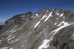 Stabbeskaret-maciço, Trollstigen próximo em Noruega Fotos de Stock Royalty Free