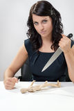 Stabbing Businesswomen Royalty Free Stock Photos