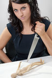 Stabbing Businesswomen Stock Photos