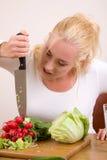 stabbing grönsaker Royaltyfri Fotografi