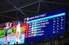 Stabhochsprungswettbewerbsschluß an den Olympics Rio2016 Lizenzfreie Stockfotos