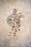 Stabiae. Damaged fresco at Villa Arianna Stock Photo