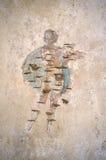 Stabiae. Damaged fresco at Villa Arianna stock photo
