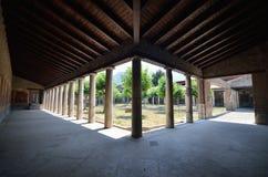 Stabiae.Peristyle bij Villa San Marco Royalty-vrije Stock Afbeelding
