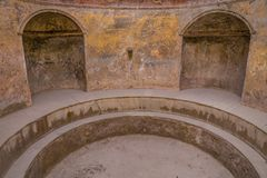 Stabian Thermal Baths In Pompeii - Campania, Italy. Stabian Thermal Baths In Pompeii - Pompei, Province of Naples, Campania, Italy, Europe royalty free stock photo