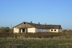 Stabiel Blok in Russisch dorp Royalty-vrije Stock Foto