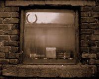 Stabiel venster in sepia Stock Foto
