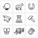 Stabila symboler också vektor för coreldrawillustration Royaltyfria Bilder