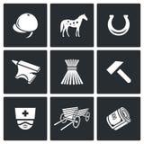 Stabila symboler också vektor för coreldrawillustration Royaltyfri Fotografi