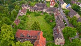 Stabilimento abbandonato dei lavoratori in Gladbeck, Renania settentrionale-Vestfalia in Germania immagini stock