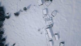 Stabilimento aereo della montagna nell'inverno (montagna di Zajamniki) video d archivio