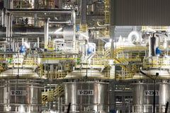 Stabilimento chimico in Polonia Fotografia Stock