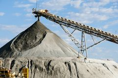 Stabilimento di fabbricazione di estrazione mineraria fotografia stock