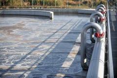Stabilimento di trasformazione delle acque di rifiuto Fotografie Stock Libere da Diritti