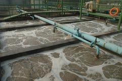Stabilimento di trasformazione di acqua di scarico fotografia stock