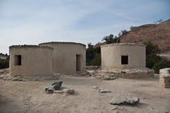 Stabilimento neolitico di Chirokitia in Cipro Fotografia Stock