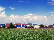 Stabilimento suburbano del cottage Immagine Stock Libera da Diritti