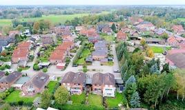 Stabilimento suburbano in Germania con le case a terrazze, casa per il mA Immagini Stock