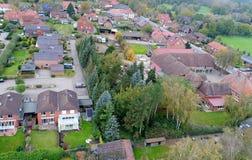 Stabilimento suburbano in Germania con le case a terrazze, casa per il mA Immagine Stock Libera da Diritti